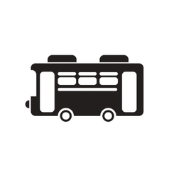 Flat icon in black and white style retro bus vector