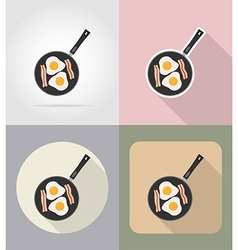 Food objects flat icons 02 vector