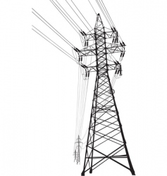 high voltage power line vector image