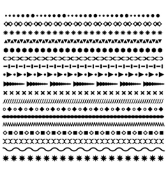 Line border geometric dotted dividers set vector