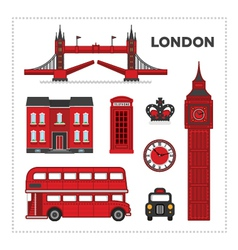 London set vector image vector image