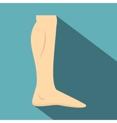 Nude human leg icon flat style vector