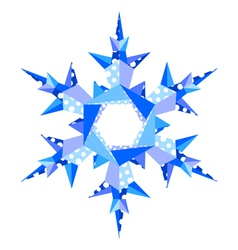 origami snowflake in vector image