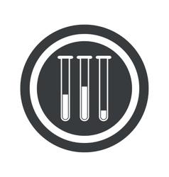 Round black test-tubes sign vector