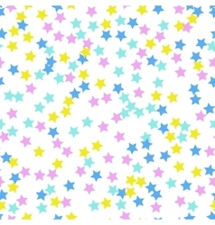 Seamless abstract pattern with stars Memphis vector image vector image