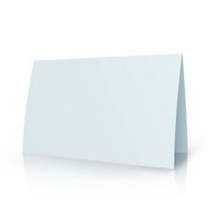 White folder paper greeting card template vector