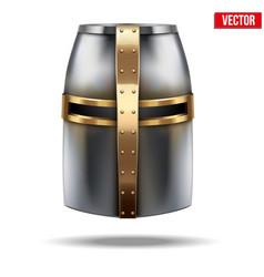 Crusader Knight Helmet vector image