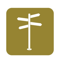 Signpost icon vector