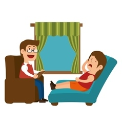 Psychology offfice therapist session design vector