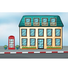 A house and a callbox vector image
