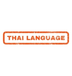 Thai language rubber stamp vector