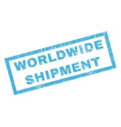 Worldwide shipment rubber stamp vector