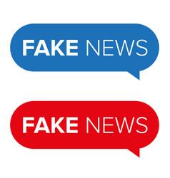 Fake news warning speech bubble vector