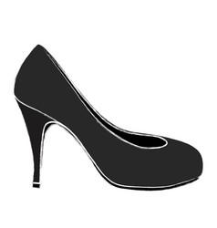 color sketch of high heel shoe black vector image