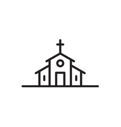 Church icon catholic basilica vector