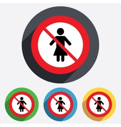 No female sign icon woman human symbol vector