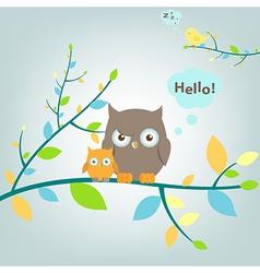 Fantastic Owls vector image