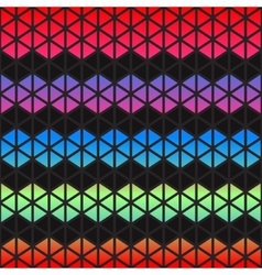 Abstract colorful geometric triangles background vector