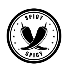 Spicy seal design vector