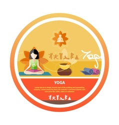 Young woman doing yoga vector