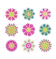 Set of floral arabesque for your design vector image