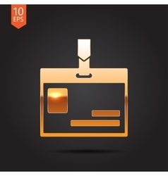 Badge icon vector