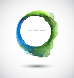 Watercolor ring green blue vector