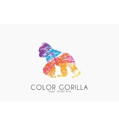 Gorilla gorilla logo color gorilla design vector