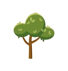 Fluffy tree icon cartoon style vector