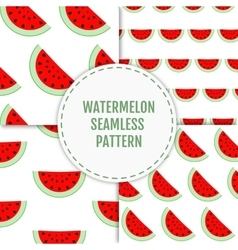 Colorful seamless patterns of watermelon slices vector