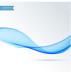 Abstract blue transparent waved lines for vector