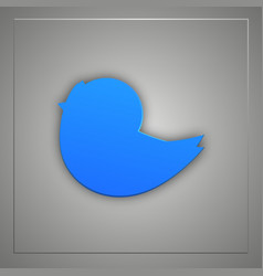 blue bird flat icon with shadow vector image vector image