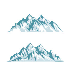 Blue silhouette of mountains with shadows lights vector