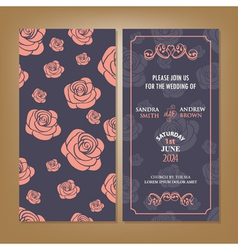 Card with roses vector