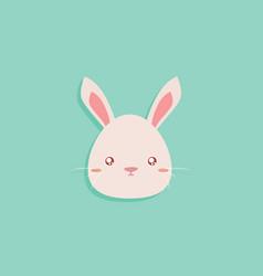 Cartoon rabbit face vector