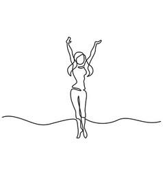 happy woman dance vector image