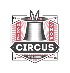 magic circus vintage isolated label vector image