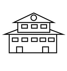 mansion icon vector image