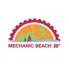 Mechanic beach logo vector