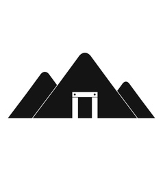 Mountain mine black simple icon vector