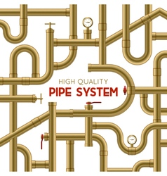 Pipe System Background vector image vector image