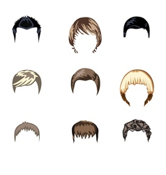Set of boys hairstyle vector