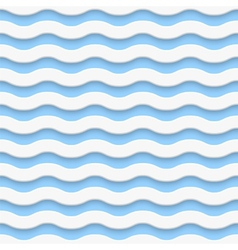 Simple seamless light wave pattern vector image