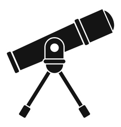 Space telescope icon simple style vector