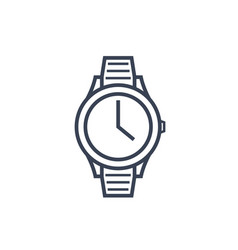 watch line icon on white vector image
