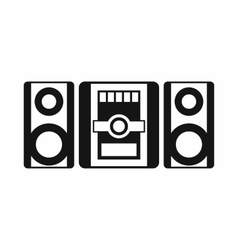 Music center icon simple style vector