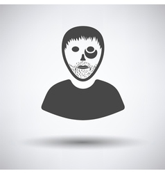 Criminal man icon vector