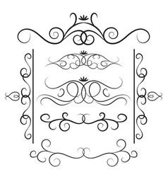 decorative curls and swirls set vector image