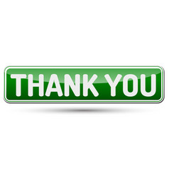 Thank you - abstract beautiful button with text vector
