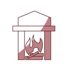 Chimney lit symbol vector
